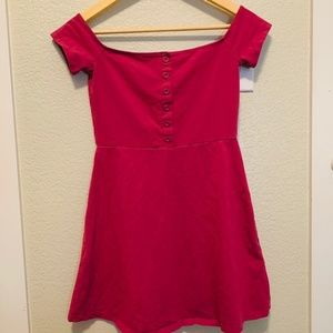 Forever 21 Off the Shoulders Fuscia Henley Dress